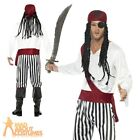 Adult Pirate Costume Mens Carribean Buccaneer Man Fancy Dress Outfit New