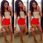 Summer Women Fashion Two-piece Sexy Party Bandage Bodycon Club Jumpsuit ShortS