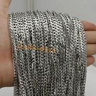 Lot Meter New Stainless Steel Silver 4mm Curb Link Chain DIY Jewelry Accessories