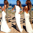 Sexy Clubwear Evening Formal prom Party gown Cocktail Bridesmaid Long Dress S ~L