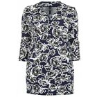 EVANS NEW NAVY BLUE WHITE FLORAL PRINT TUNIC KAFTAN TOP BLOUSE PLUS SIZE 14-32