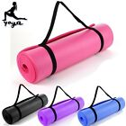 10mm Exercise Yoga Floor Mat Pilates Physio Crash Gym Camping Non Slip 180x60cm