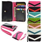 Wallet Purse Bag Wrist Strap Clutch Case Cover for MetroPCS Smart Cell Phone