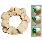 Beige Soft & Silky Scrunchie Ponytail Holder Hair Accessories  50+Colors