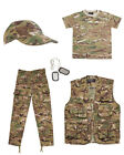 Kids Army BTP Camo Fancy Dress Children's Soldier Outfit Uniform Play Set