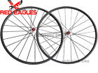 Disc brake Cyclocross 24mm Clincher carbon bike wheels thru axle hub available