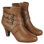 NEW Women's High Heels Booties Ankle Boots Riding Low zip up heel Shoes Size B46