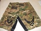 AIR FORCE AFSOC COMBATANT MMA PT STREET NEW CAMO FIGHT BOARD SHORTS SIZES S-5XL