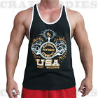 NPC ACTIVE WEAR BODYBUILDING TANK TOP | GYM STRINGER | WORKOUT SINGLET | VEST