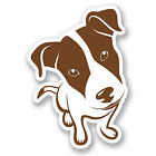 2 x Jack Russell Dog Vinyl Decal Stickers Laptop Car Gift Animal Puppy #5722