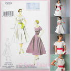 Vogue V9105 Sewing Pattern Misses' Vintage 1950's Dress & Sash - Repro. 1954
