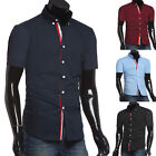 2015 Fashion Mens Slim Fit Short Sleeve Business/Dress/Formal/Casual Shirts Tops