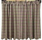 Lined Country Cafe Curtains Window Tier Set 2 Red Green Plaid Jackson Collection