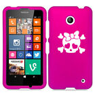 For Nokia Lumia 630 635 Rubber Hard Case Cover Heart Skull Bow