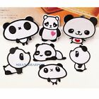 3 X Panda Iron Sew On Cute Patch Motif Craft Sewing Repair Embroidered Quilting