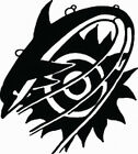 NEW TRIBAL DOLPHIN  #TAN2/16  DECAL VINYL GRAPHIC  CAR  SUV VAN AUTO RV VEHICLE