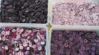 80g -120g - 160g or 200g  BAG ASSORTED MIXED PURPLE AND LILAC  BUTTONS