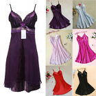 Modern Women Silk Lace Nightgowns Chiffon Spaghetti Straps Sleepwear Robes FOUK