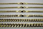 "10K SOLID GOLD CUBAN LINK CHAIN NECKLACE BRACELET FOR MEN WOMEN 2mm~13mm 7""~30"""