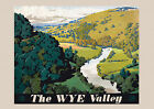 Wye Valley -  repro vintage railway poster in 4 sizes