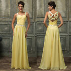 Womens Sexy Long Chiffon Evening Formal Party Dress Bridesmaid Prom Ball Gowns