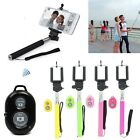Selfie Handheld Monopod Stick + Holder + Bluetooth Shutter Remote for smartphone