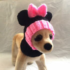 Pet Clothes Apparel Handmade Knit Minnie Mouse Hat Hoody Snow Hat for Small Dog