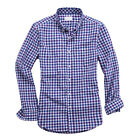 Mens Classic Fit Long Sleeve Cotton Casual plaid shirt Button Down Dress Shirt