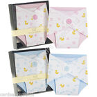 Baby Boys or Girls Blank Luxury Pack of 8 Greeting Cards Nappy Blue Pink