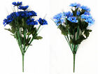 Artificial Flowers Cornflowers Posy Bunch Blue 50cm 12 Head Cornflower