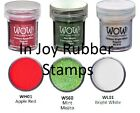 Wow Embossing Powder 3 Color Lots Christmas Red, Mint Mojito, White, More!