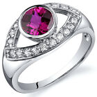 Captivating Curves 1.00 cts Ruby Ring Sterling Silver Size 5 to 9