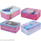 Disney Frozen Elsa Anna Kristoff Olaf Sven Storage Tin Keepsake Box Metal Tins