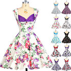 Housewife Vintage Retro Style 50s Pinup Swing Formal Party Rockabilly Prom Dress