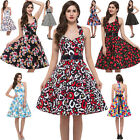 DANCING VINTAGE STYLE 50's RETRO DRESS PARTY EVENING ROCKABILLY SWING PROM DRESS