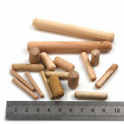 WOODEN DOWELS WOODWORK FLUTED PINS *5 WIDTHS & 7 LENGTHS* GROOVED PLUGS HARDWARE