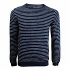 GANT JUMPER MENS NAVY WHITE CREW NECK KNIT