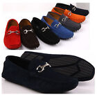 Nubuck leather Men Slip Ons buckle Loafers Driving Car Shoes causal shoes