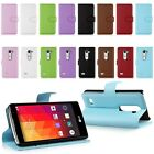 Book Style PU Flip Leather Case Cover Wallet Card Slot for LG Leon 4G LTE H340N