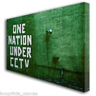 BANKSY ONE NATION CCTV CANVAS WALL ART BOX PRINT PICTURE SMALL/MEDIUM/LARGE