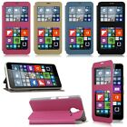 Flip Leather Wallet View Window Case Cover For Microsoft Nokia Lumia 640/640XL