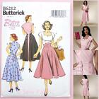 Butterick 6212 Sewing Pattern - Misses' Retro '52 Dress - 1950's