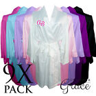 9 PACK Bridal Wedding Bride Bridesmaid Dressing Gowns Satin Robes Personalised