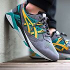 new mens sz 11 asics gel-kayano trainer h502n-1159 grey/gold fusion