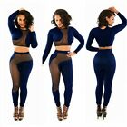 Sexy Womens Mesh Bodysuit Bandage Evening Party Clubwear Romper&Jumpsuit Trouser