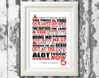 The Libertines You Cant Stand Me Now Lyric Posters Prints Typography Design