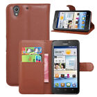 Flip Magnetic Card Wallet PU Leather Case Stand Cover For Huawei Ascend G630