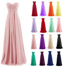 Simple Chiffon Wedding Bridesmaid Dress Long Formal Evening Party Prom Ball Gown