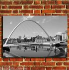 NEWCASTLE MILLENIUM BRIDGE CANVAS WALL ART BOX PRINT PICTURE SMALL/MEDIUM/LARGE