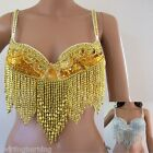 AU 12C-22E Belly Dance Beaded Bra Sequinned Top Sexy Dancing Costume AR06